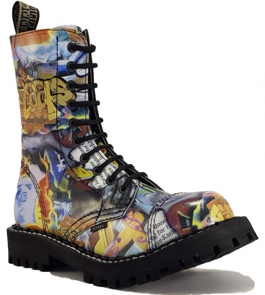 Steel Stiefel 10 Loch Graffiti