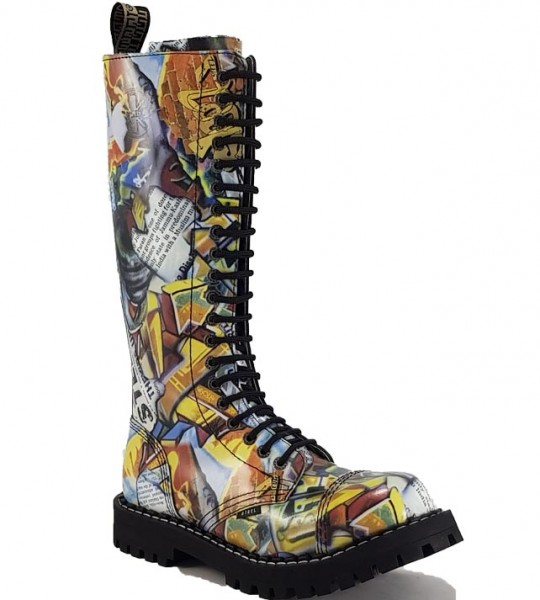 Steel Stiefel 20 Loch Graffiti