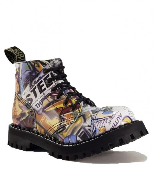 Steel Stiefel 6 Loch Graffiti
