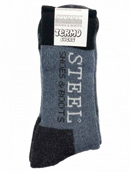 Thermosocken Steel Schwatz