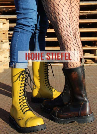 Hohe Stiefel Steel